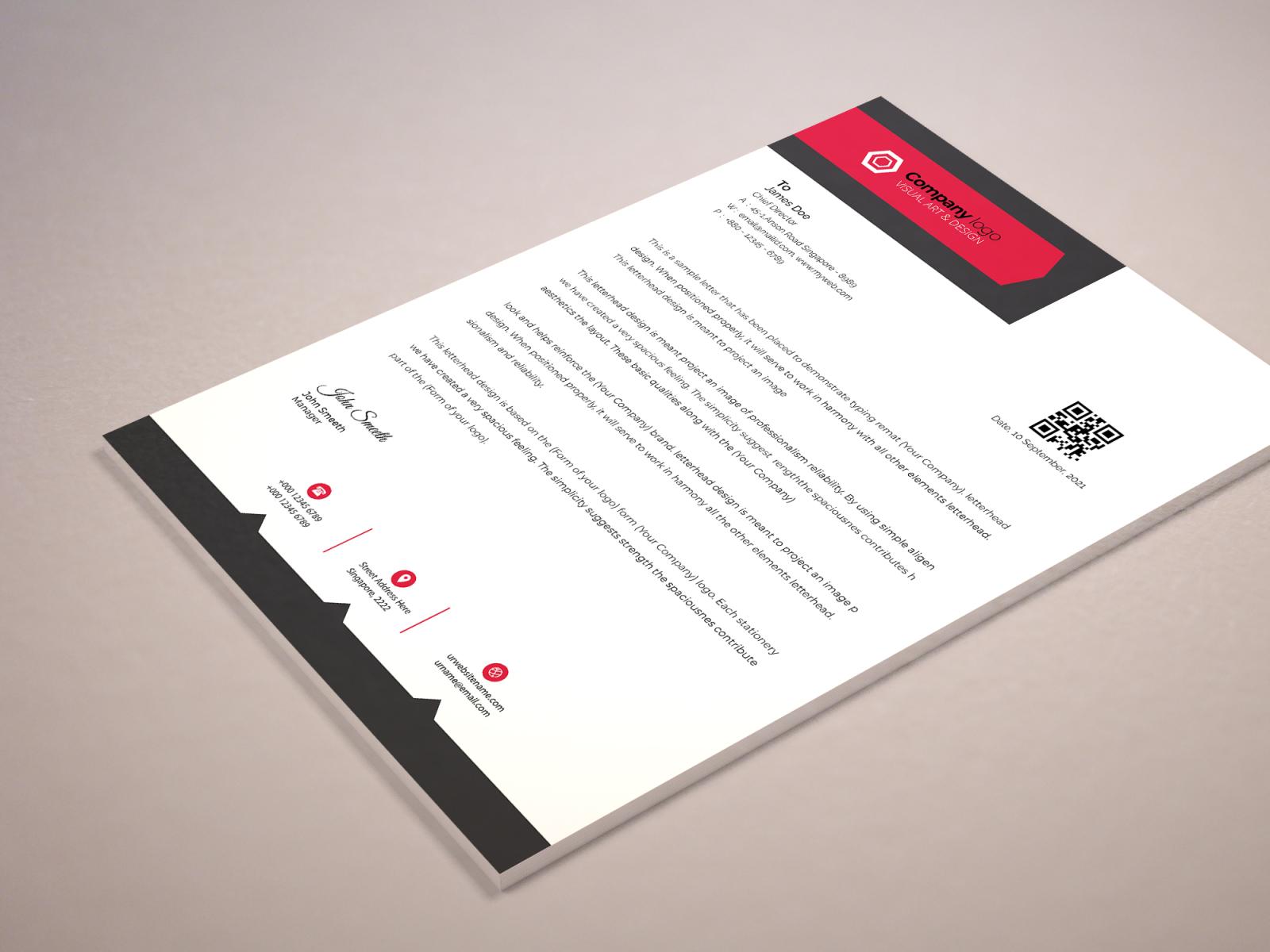 Sample Of Letter Head from cdn.dribbble.com