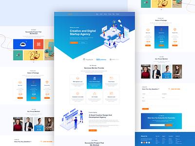 Corporate landing page web design templatedesign graphic design ui landing page ux app web design website