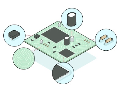 chipset infographic tech interaction interactive design illustrator isometric infographic illustration vector