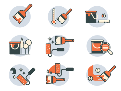 hardware/building supplies icons