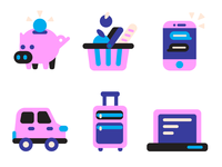 Icon set for a credit card website