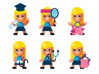 Girl avatars
