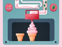 Ice cream machine infographic