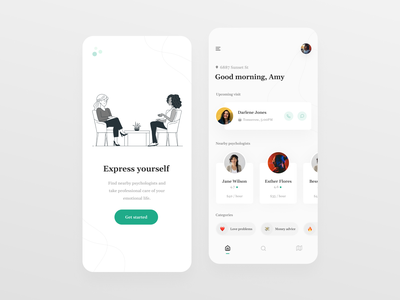 Psychologist meeting App UI uimobile mobileux mobileui mobiletrends mobileinspiration mobile designer mobile design mobiledesign mobileapplication mobile app design mobileappdesign mobile app mobileapp mobile minimal interface inspiration design app 2020