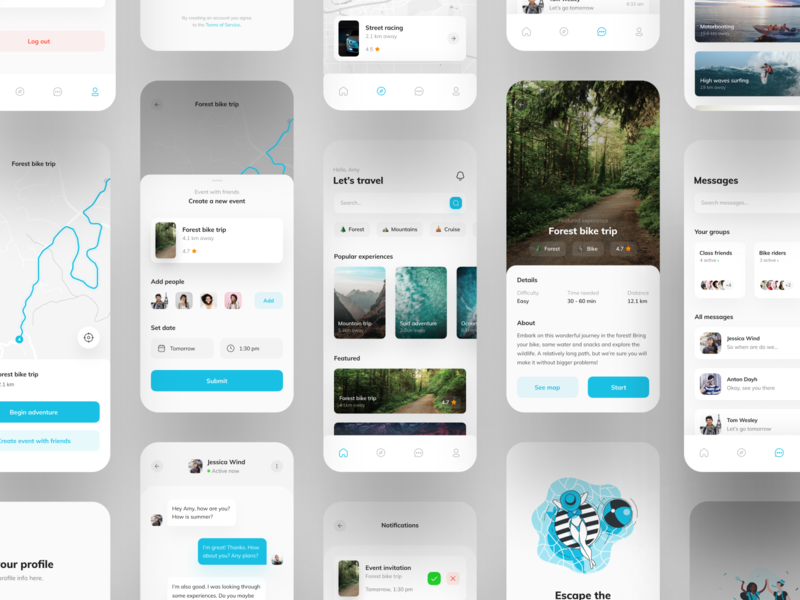 Experiences App UI - Full Project mobile trends mobileui uiuxdesign uitrends uiinspiration uidesign trending mobile ui mobiletrends mobileinspiration mobile design mobile app mobile minimal inspiration flat design app design interface 2020