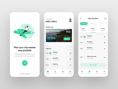 Travel App UI Concept mobile trends mobileui uiuxdesign uitrends uiinspiration uidesign trending mobile ui mobiletrends mobileinspiration mobile design mobile app mobile minimal inspiration flat design app design interface 2020