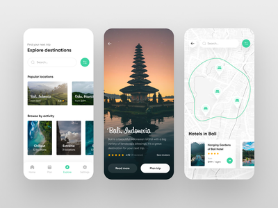 Travel App UI Concept - 2 mobile trends mobileui uiuxdesign uitrends uiinspiration uidesign trending mobile ui mobiletrends mobileinspiration mobile design mobile app mobile minimal inspiration flat design app design interface 2020