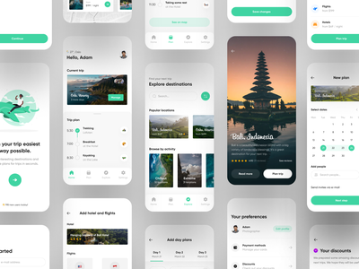 Travel App UI - Full Project mobile trends mobileui uiuxdesign uitrends uiinspiration uidesign trending mobile ui mobiletrends mobileinspiration mobile design mobile app mobile minimal inspiration flat design app design interface 2020