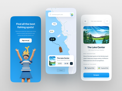 Fishing Spots App UI mobileui