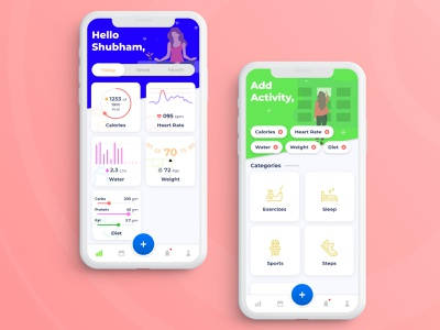 Health App bodybuilding bodybuilder body care sleep steps calorie meter ios app heart rate heartbeat exercise weight bmi diet calories hydration blood pressure fitness app fitness healthcare health