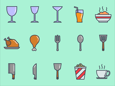 restaurant icon color