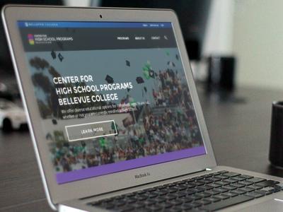Bellevue College High School Programs Landing Page web design ui
