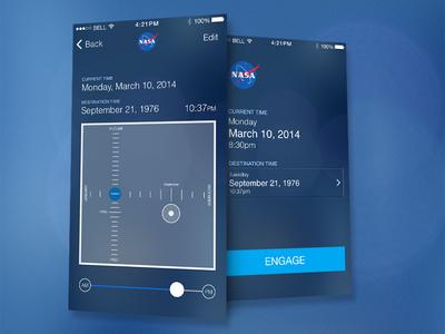 NASA iPhone Time Travel App ios ui ux