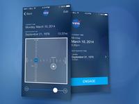 NASA iPhone Time Travel App