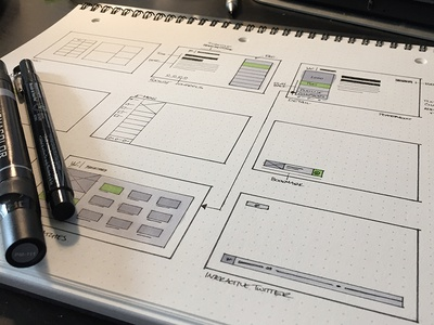 TV App Sketches wireframe sketches ux ui wireframes drawing