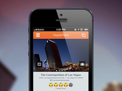 VegasMate Detail Page ios iphone ui ux vegasmate