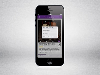 Liqr Detail - Add to Collections ios iphone ui ux