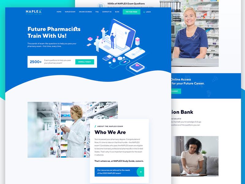 Naplex Website Redesign | UI UX app health pharmacy color graphics inspiration latest hospital health web healthcare web layout ui ux modern illustration clean website design web ui web medical doctor