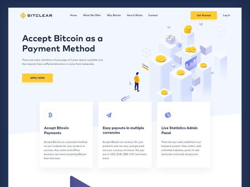 Crypto Website Concept | Web UI design latest new design web ui website layout payment abstract web clean psd mockup psd web design graphics isometric bitpay design crypto currency currency bitcoin layout crypto website
