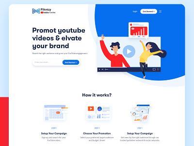 Flintzy Web UI Design graph stats latest colorful graphics illustration promotional youtube video landing page web ui dribbble invite web web design website dribbble clean ui design design