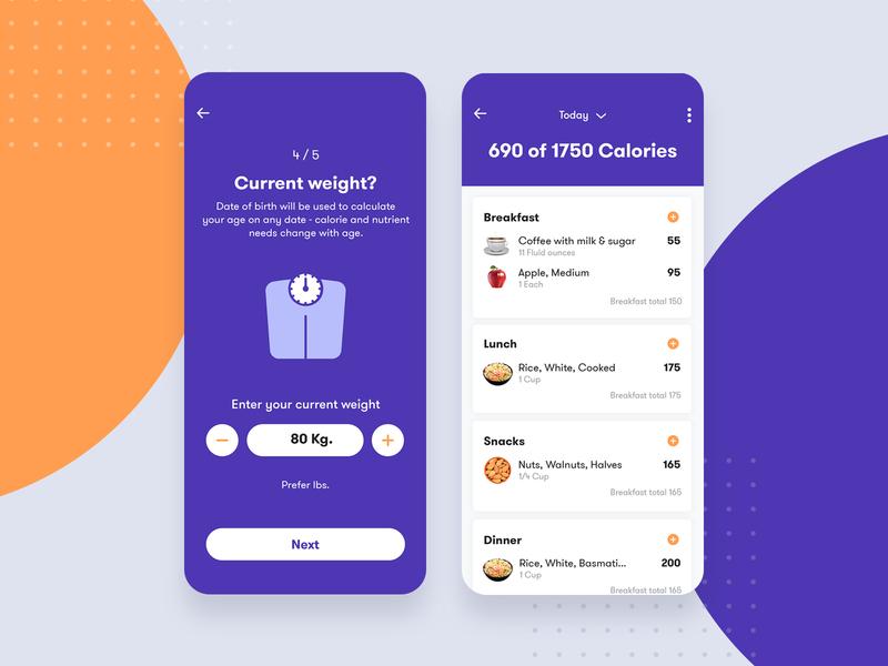 Fitness app UI UX ui ux body food flat android trending dribbble fintech cool clean creative iphone new app app design design latest calorie yoga health app fitness