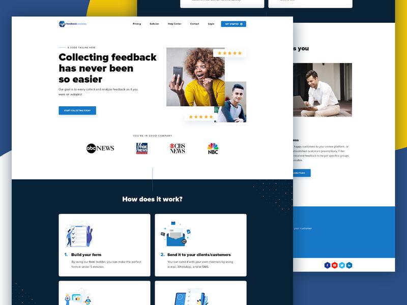 Feedback Analytics website redesigned bold psd layout elegant illustration feedback rating webstie review web layout design ui ux ux ui clean layout website ui