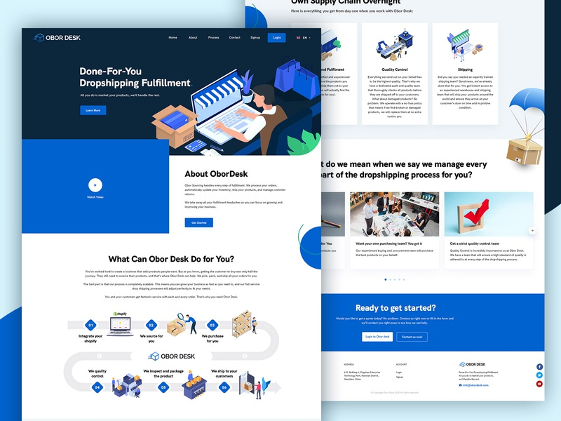 Dropshipping website concept ecommerce shopping psd design ux ui ui ux new design layout process step illustration clean design web layout website ui dropshipping