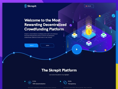 Crowdfunding web layout concept modern abstract illustration wireframe website concept layout design psd design psd web design website web ux ui design layout concept crowdfunding crypto
