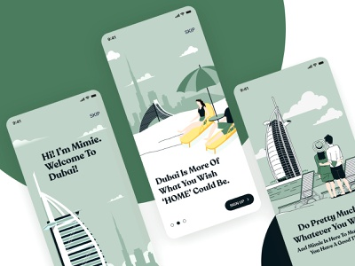 Onboarding Screens onboarding illustration professional app clean app app design app ui ui design ui ux mobile ui tour app