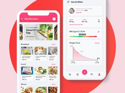 Dribbble Invite |  Fitness app UI/UX