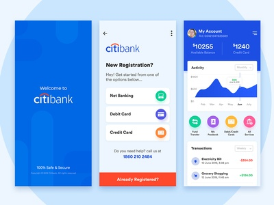 Citibank concept | Banking Mobile App UI/UX