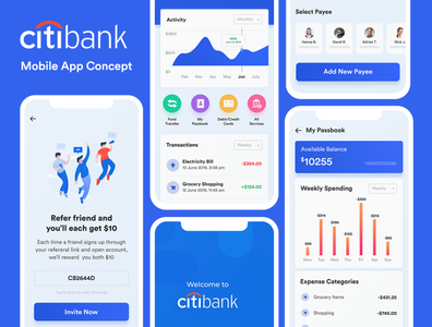 Banking app Concept UI