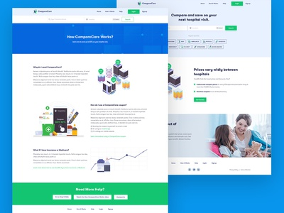 Compare care website UI/UX