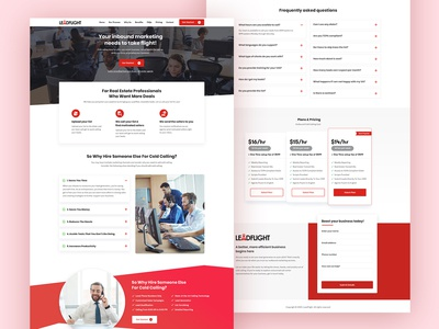 Cold Calling Website Redesigning UI/UX