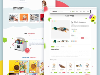 Pet Store Website UI/UX