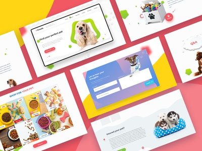 Pet Store website landing page