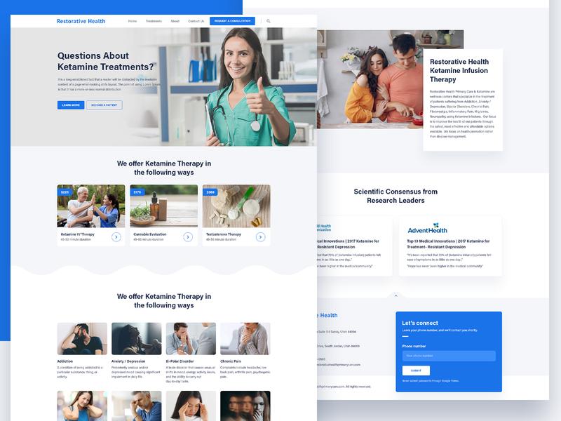 Dribbble Invite | Healthcare Website UI Redesign website concept draft invite invitation dribbble invite dribbble web graphics minimalistic clean medical healthcare health psd design web layout web design ui ux ui design layout website