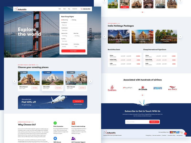 Flight Booking Website Redesign UI/UX app world tourism travel package modern clean travel ui ux web flight ui ux book psd design userinterface interface landing page webdesign website booking