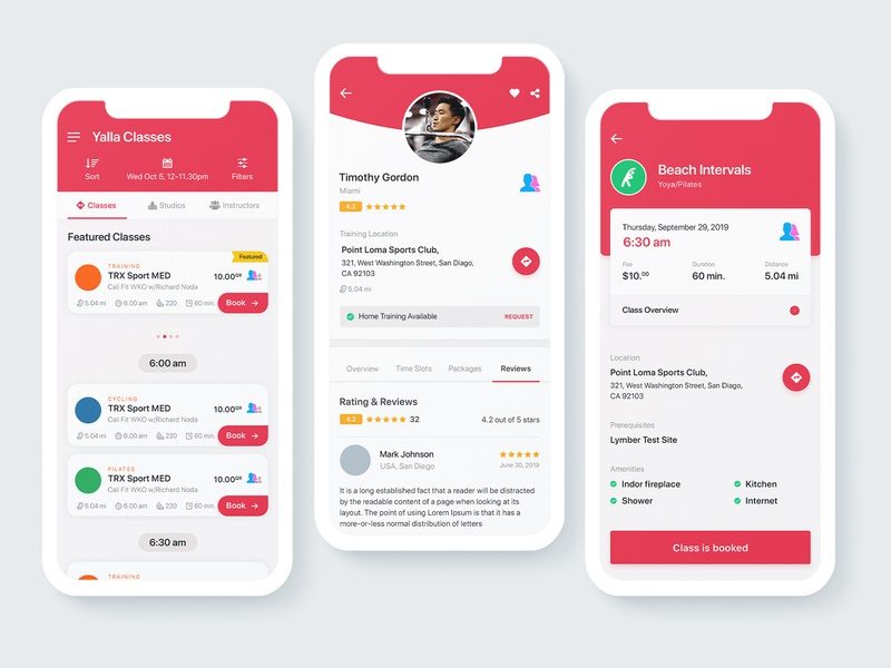 YallaClass | Fitness Mobile App UI/UX Redesign gym app dribbble invite best ui design latest trending colorful elegant clean trainer coach redesign diet food yoga health fit fitness ux mobile ui