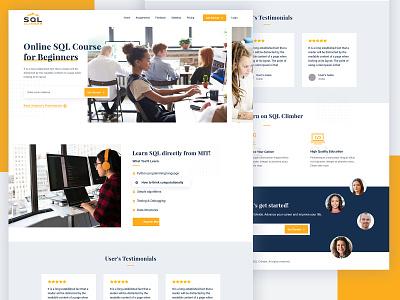Online Education Website UI/UX Redesign creative clean business school tutor video server web ui web layout ui design psd flat layout design uiux ui web design education online website