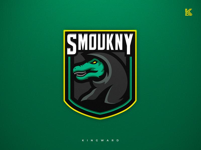 Smoukny vector sport mascotlogo mascot logo kingward illustration esport design branding