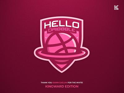 Hello Dribbble illustration logo mascot mascotlogo firstshot hellodribbble debutshot debuts design
