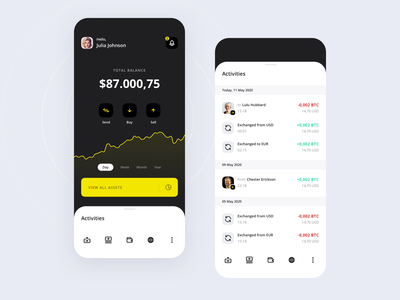 Crypto Wallet - Dashboard coin finance dashboard android ios design app ux ui wallet crypto