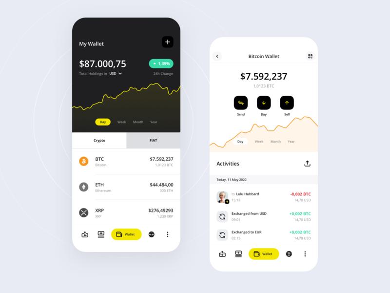 Crypto Wallet - Coin Wallet loan exchange wallet ux ui ios finance app crypto coin