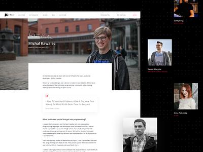 X-Team / Subpage - Our Developers developers design ux landingpage xteam clean web website