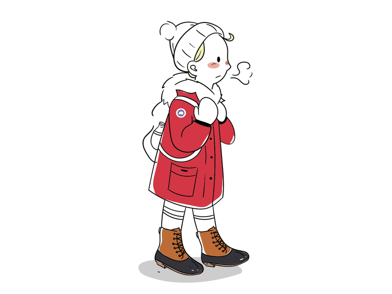 Canada goose + airpods + duck boots illustration