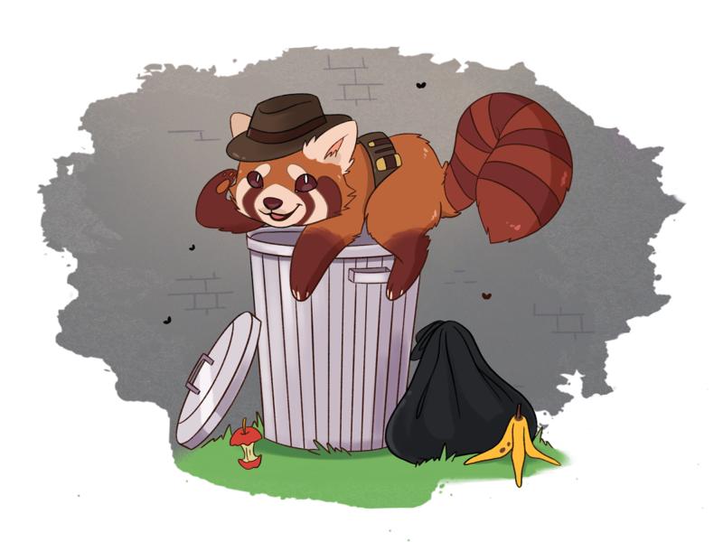 Dumpster Diver illustration