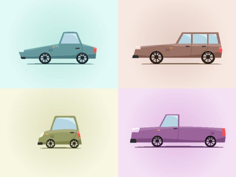 Toon Style illustrator vector illustration old cars cartoon
