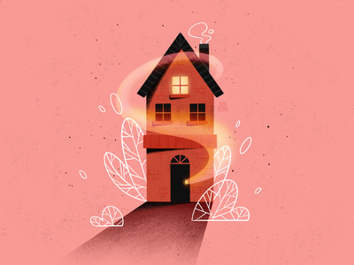 House modern procreate art house illustration procreate cute architecture plants casper monochrome building home house artwork colorful minimal flat design illustrator art illustration