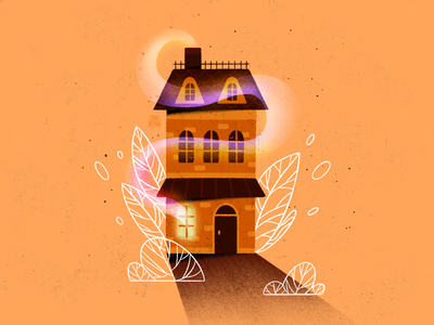 House #3 monochrome plants cute architecture building home house illustration house procreate art procreate modern colorful artwork web minimal flat design illustrator art illustration